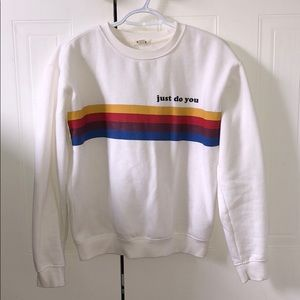 White Garage Crew Neck Sweater